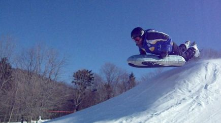 Airboarding at Canaan Valley Resort. Photo courtesy Canaan Valley Resort.