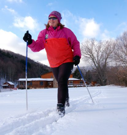 Cross-country skiing at Elk River Touring Center.