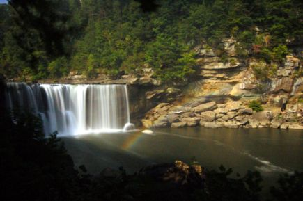 Cumberland Falls, KY. Photo by Attila Horvath.