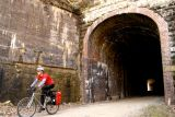 Tunnel 13, one of the many still passable along the North Bend Rail Trail. Photo by Mary Reed.